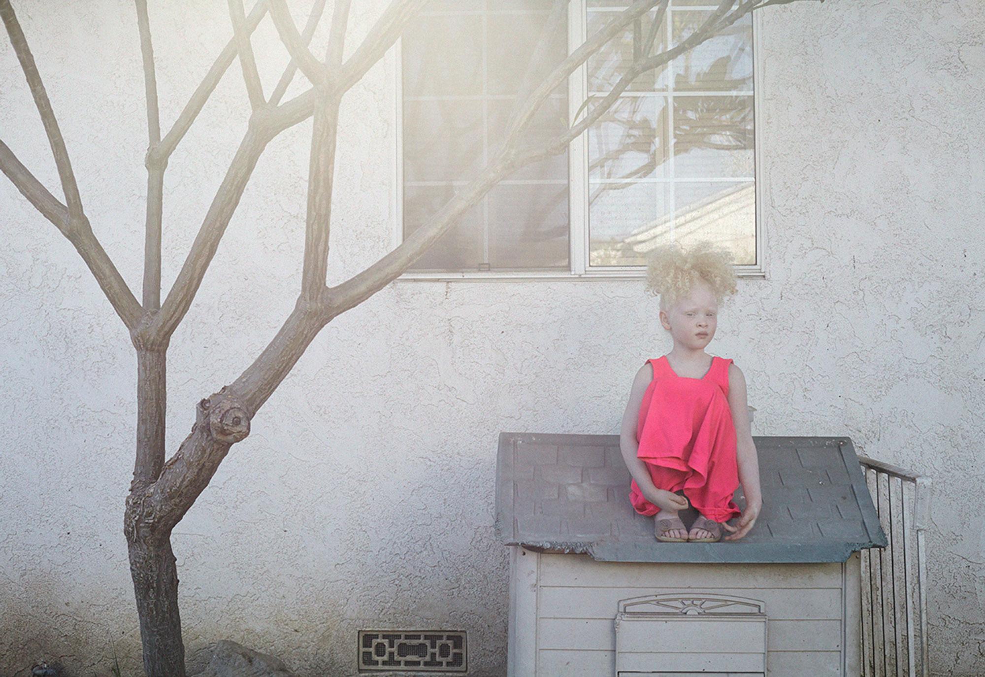 Ellyana in pink dress